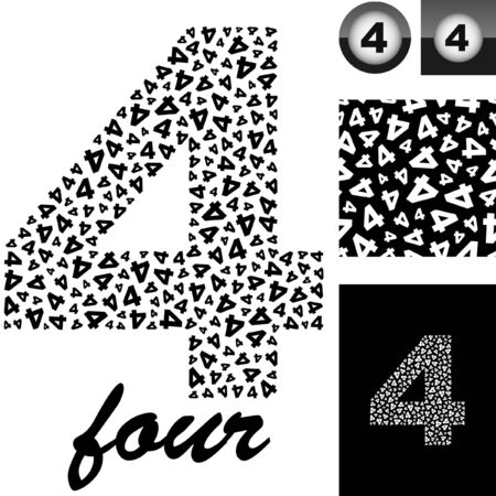 Four. Great set for design.  Vector