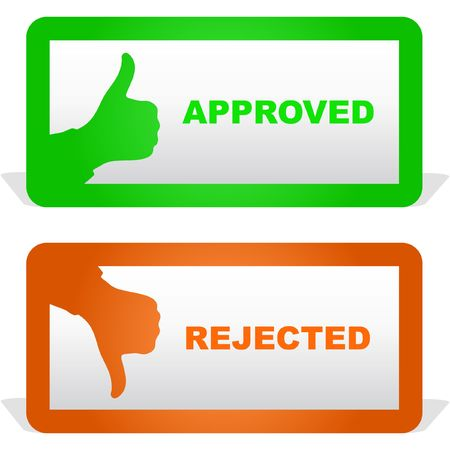 Approved and rejected icons. Stock Vector - 6876875