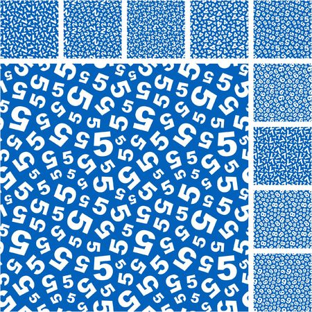 ninth: Seamless pattern with number mix.