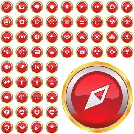 Great collection of web buttons  Vector