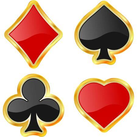 cartas de poker: Tarjetas de trajes.  Vectores
