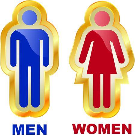 individualit�: Icone di uomini e donne. Insieme di elementi grafici.