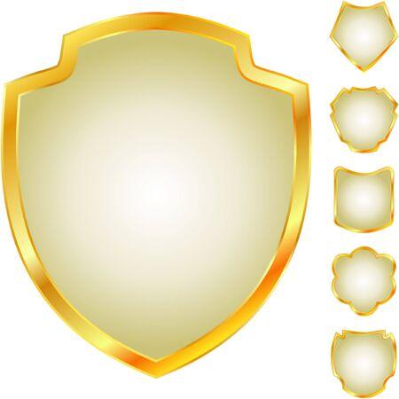 shield set: heraldic symbols
