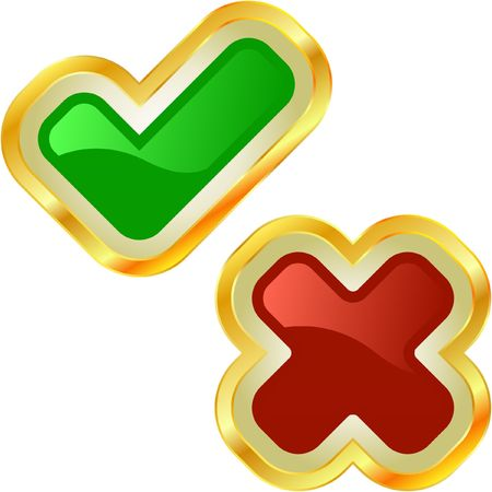 proceed: Approved and rejected buttons.  Illustration