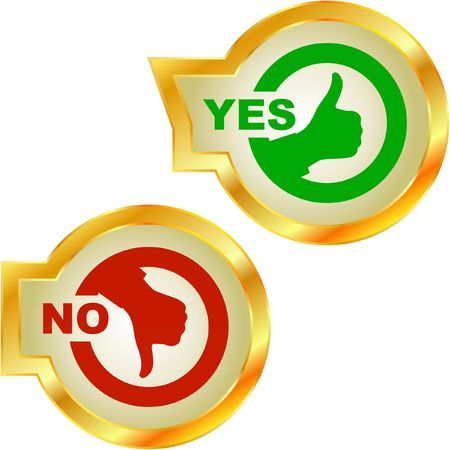 Yes and No icon. Stock Vector - 6876886