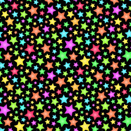 Naadloze achtergrond met sterren.   Vector Illustratie