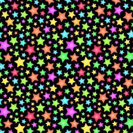 Nahtlose Hintergrund mit Sternen.   Vektorgrafik