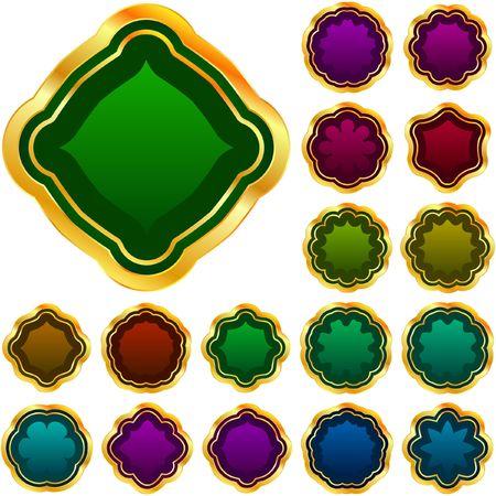 jeweller: Set of glass stones.