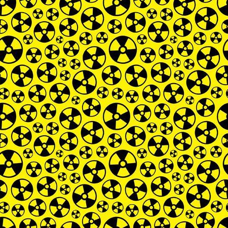 radioisotope: Seamless pattern with alert symbol. Vector illustration.   Illustration