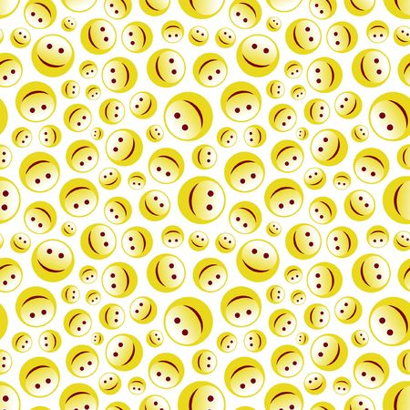 Seamless pattern with smile face.  Stock Vector - 6877491