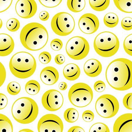 amabilidad: Patr�n transparente con cara de sonrisa.  Vectores