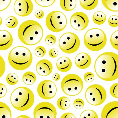 laugh emoticon: Seamless pattern with smile face.