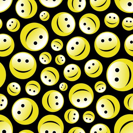 Seamless pattern with smile face. Stock Vector - 6877211