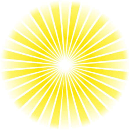 sol radiante: Resumen de rayos.  Vectores