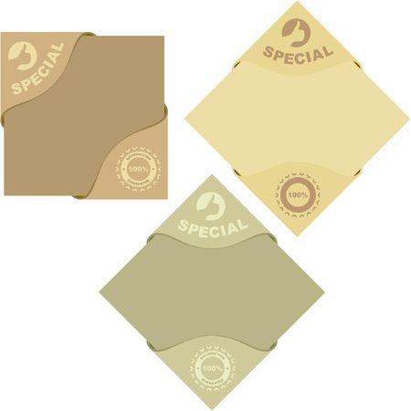 Set of sale labels Stock Vector - 6877220