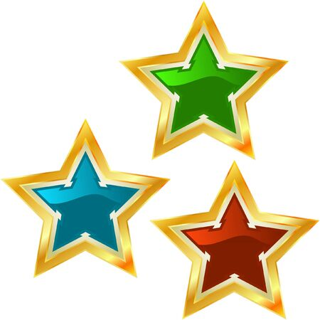 Star collection. Vector illustration.  Vector