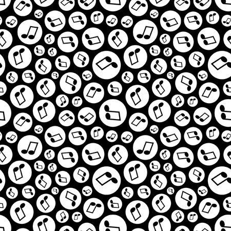 Motif transparente avec des notes de musique.