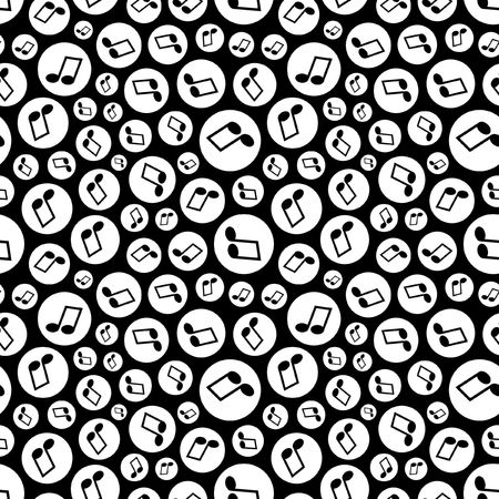 Seamless pattern with music notes.   Vector