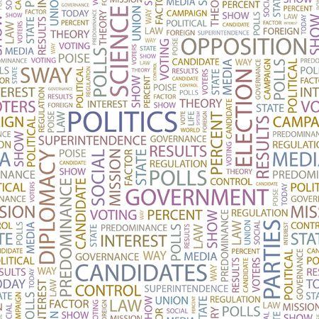 oposicion: POL�TICA. Fondo transparente. Ilustraci�n de la Wordcloud.