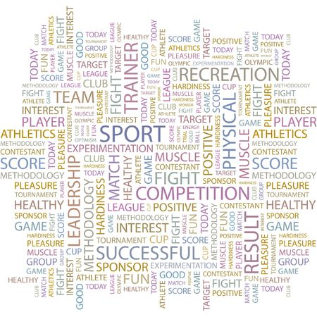 SPORT. Word collage on white background. Stock Vector - 6878815