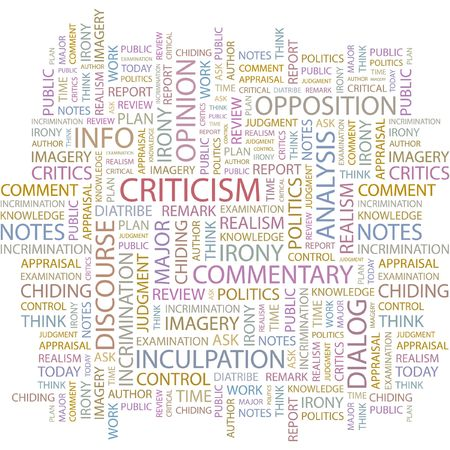 CRITICISM. Word collage on white background. Stock Vector - 6878904