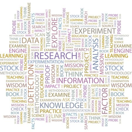 RESEARCH. Word collage on white background.  Vector