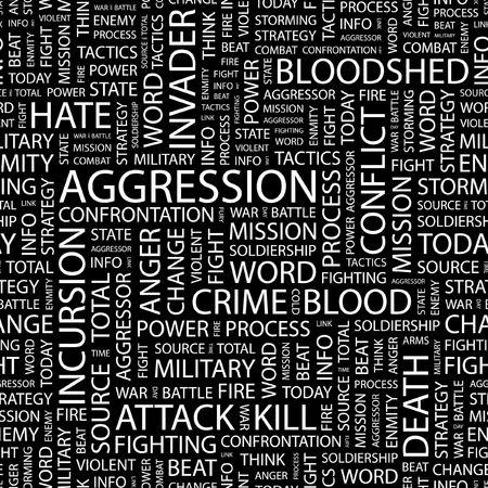 bloodshed: AGRESI�N. Patr�n transparente con nubes de palabra.