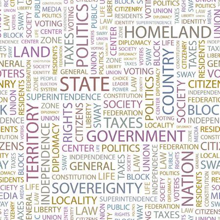citizenry: ESTADO. Fondo transparente. Ilustraci�n de la Wordcloud.