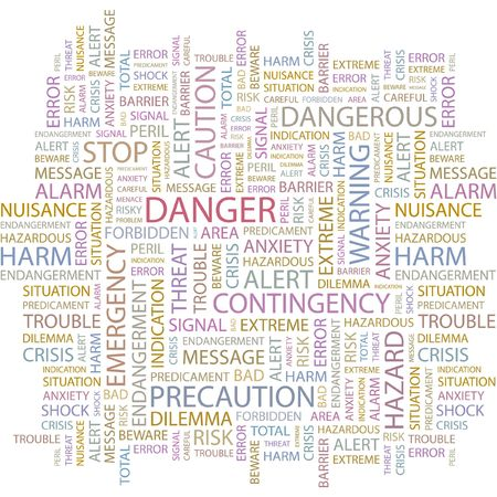 DANGER. Word collage on white background. Vector