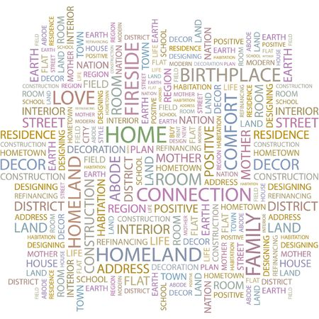HOME. Word collage on white background Stock Vector - 6880204
