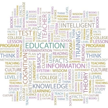 EDUCATION. Word collage on white background. Vector