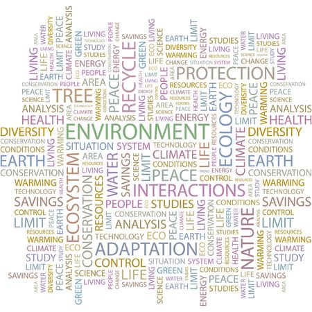 ENVIRONMENT. Word collage on white background. Stock Vector - 6880052