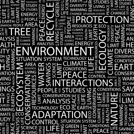 ENVIRONMENT. Seamless pattern with word cloud. Stock Vector - 6879173