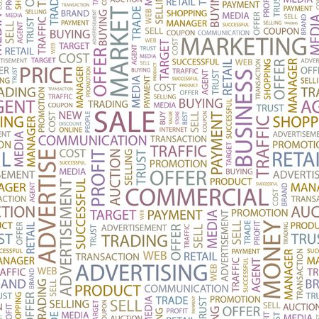 SALE. Seamless background. Wordcloud illustration. Stock Vector - 6879925