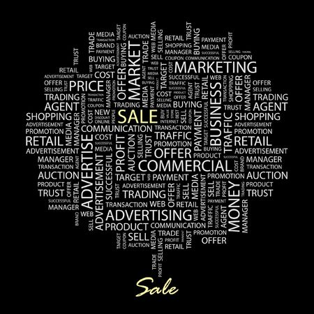 SALE. Word collage on black background. Stock Vector - 6880040