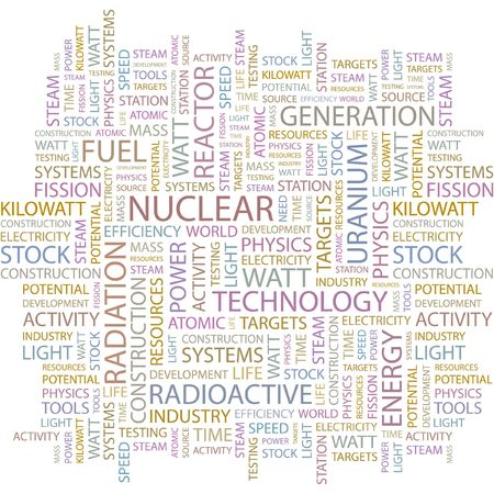 NUCLEAR. Word collage on white background. Stock Vector - 6880105