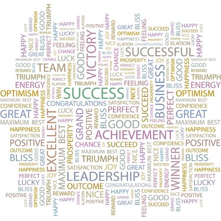 SUCCESS. Word collage on white background. Vector
