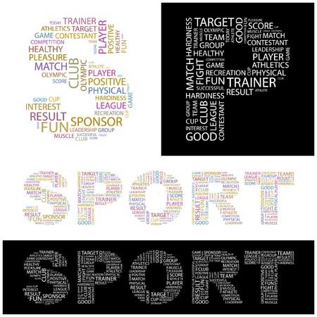 olympic game: SPORT. Word collage. illustration.    Illustration