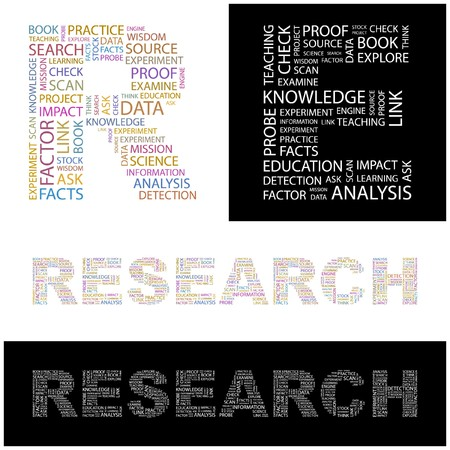 RESEARCH. Word collage.  illustration. Stock Vector - 6919439