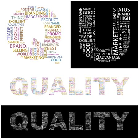QUALITY. Word collage. illustration.    Stock Vector - 6914961