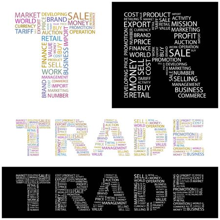 TRADE. Word collage.  illustration. Stock Vector - 6914831
