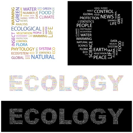 phytology: ECOLOGY. Word collage.  illustration.