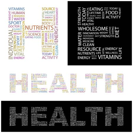 HEALTH. Word collage. illustration. Stock Vector - 6914875