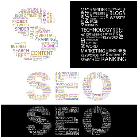 SEO. Word collage. illustration. Stock Vector - 6914815
