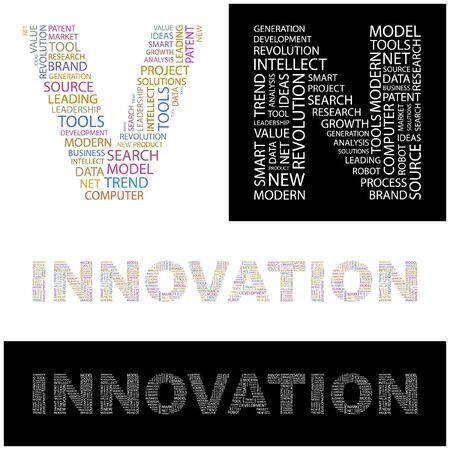 INNOVATION. Word collage.  illustration.    Vector