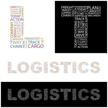 LOGISTICS. Word collage. illustration. Stock Vector - 6919432