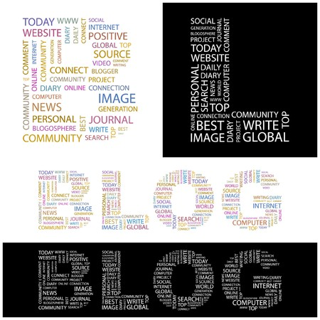 BLOG. Word collage.  illustration.    Stock Vector - 6914818