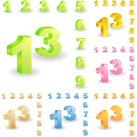 Number icons. Stock Vector - 6920876