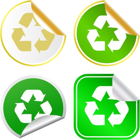 Recycle symbol button Stock Vector - 6920869
