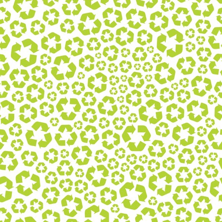 Seamless recycle background. Vector